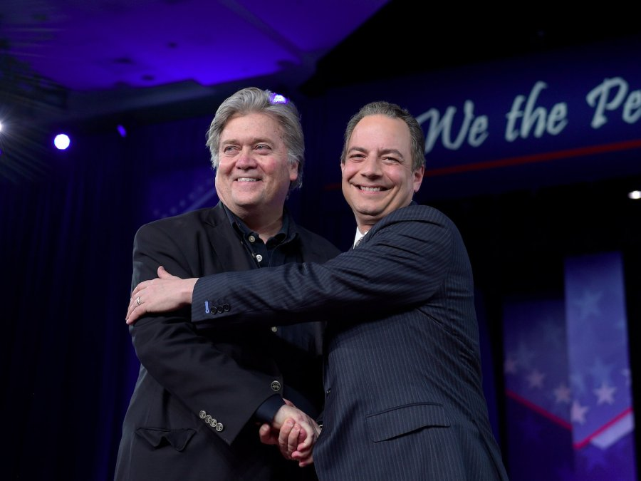 Priebus says he and Bannon get along fine during appearance at CPAC